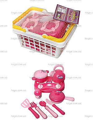 Детский набор посуды с плитой, KF899-21