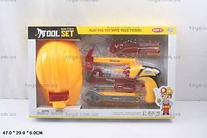 Детский набор строительных инструментов с каской, 0716F