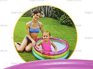 Детский надувной бассейн «Радуга», 104, игрушки