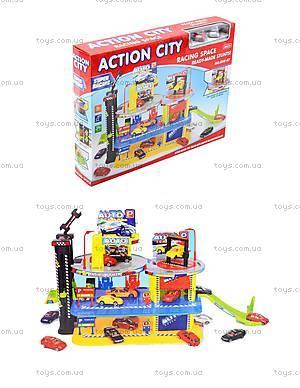 Детский паркинг с автомобилями и вертолетом, 888-47