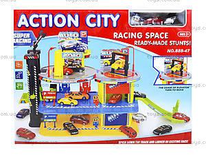 Детский паркинг с автомобилями и вертолетом, 888-47, цена