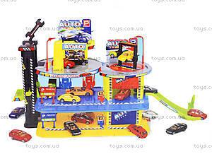 Детский паркинг с автомобилями и вертолетом, 888-47, магазин игрушек