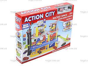 Детский паркинг с автомобилями и вертолетом, 888-47, toys.com.ua