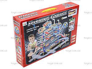 Детский паркинг с металлическими машинками, P3088, игрушки