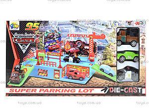 Детский паркинг с металлическими машинками «Тачки» , 283-2, детские игрушки