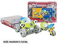 Детский пластиковый конструктор «Машины», 2555-12А, фото