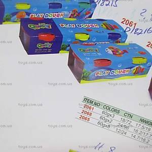 Детский пластилин, 3 цвета, D18216