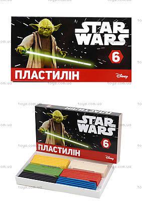 Детский пластилин «Звездные войны», 6 цветов, Ц557007У