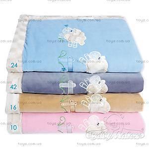 Детский плед Lambs, голубой, 0202-24, купить
