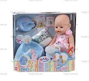 Детский пупс Baby born с аксесуарами и звуковыми эффектами, 807866-B