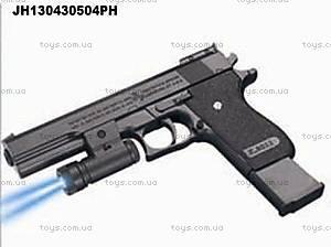 Детский пистолет на пульках, с подсветкой, K2011-C+