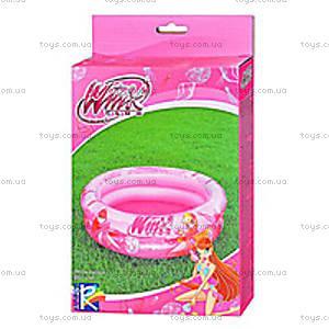 Детский розовый бассейн с куклами винкс,