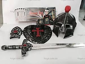 Детский рыцарский набор со шлемом и мечом, 918-2A