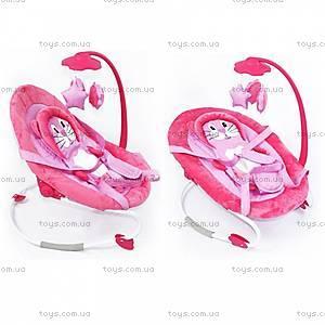 Детский шезлонг-качалка, розовый, BT-BB-0002 PINK, купить