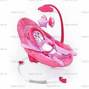 Детский шезлонг-качалка, розовый, BT-BB-0002 PINK, фото