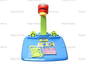 Детский столик для рисования с лампой, 628-30, игрушки