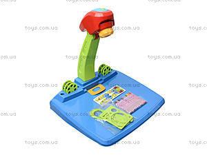 Детский столик для рисования с лампой, 628-30, детские игрушки