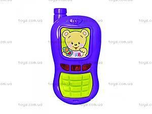 Детский телефон с мишкой,