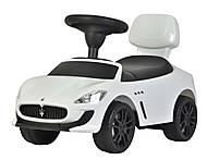 Детский толокар Maserati лицензия, белый, U-060W, цена