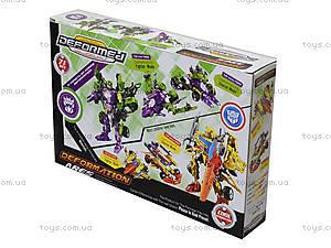 Детский трансформер-робот Warrior, 666-B, детские игрушки