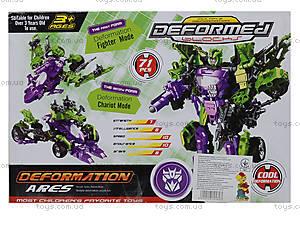 Детский трансформер-робот Warrior, 666-B, магазин игрушек