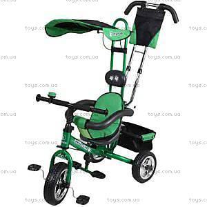 Детский трехколесный велосипед зеленый, XG18919-T12-4
