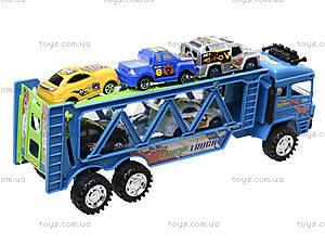 Детский трейлер с машинками, 3017C, купить