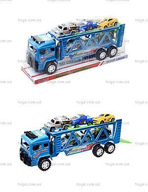 Детский трейлер с машинками, 3017C