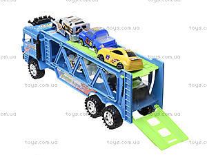 Детский трейлер с машинками, 3017C, игрушки