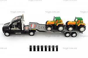 Детский  трейлер, с тракторами, 678-19