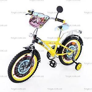 "Детский велосипед «Мотогонщик» 18"", yellow-black, T-21825"