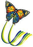 Детский воздушный змей «Бабочка», 1151, toys