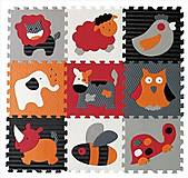 Детский игровой коврик - пазл «Веселый зоопарк», GB-M129A4, toys.com.ua