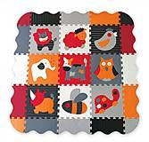 Детский игровой коврик - пазл «Веселый зоопарк» оранжево-серый, GB-M129A4E, тойс ком юа