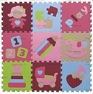 Детский игровой коврик - пазл «Интересные игрушки», GB-M1707