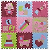Детский игровой коврик - пазл «Интересные игрушки», GB-M1707, опт