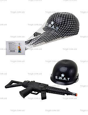 Детский игровой набор с каской «Полицейский», 0055-M2