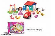 Игровой набор с куклой, питомцами, трактором, 1080, фото