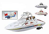 Детский игрушечный катер на радиоуправлении, 7 -4021B, купить