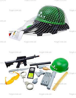 Детский игрушечный набор «Полицейский» с каской, 0055-M4