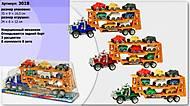 Детский игрушечный трейлер и 4 машинки, ZJ2657AB-1