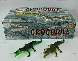 Детский игрушка-пищалка «Крокодил», H9708W