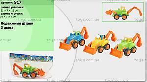 Детский инерционный трактор с ковшом, 917