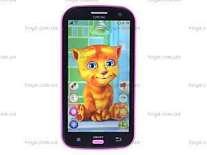 Детский интерактивный телефон «Кот Том», DB1883G2, игрушки