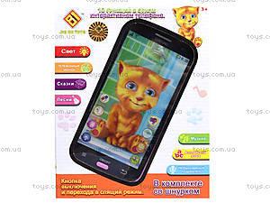 Детский интерактивный телефон «Кот Том», DB1883G2, магазин игрушек