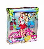 Девушка - велосипедистка (в красно-белом), JX100-67, отзывы