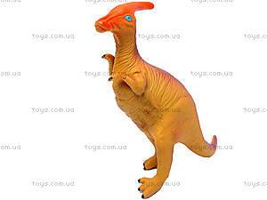 Динозавр резиновый, 6 видов, 2404, игрушки