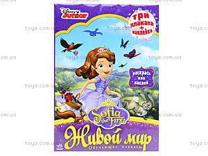 Обучающие плакаты для детей «Принцесса София. Живой мир», Р457031Р, купить
