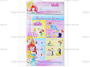 Плакат с разрезными карточками для детей «Принцессы: Развитие речи», Л457008РУ, купить
