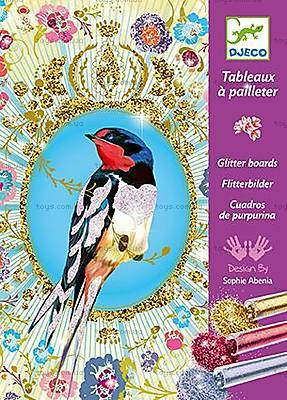 Художественный набор для рисования блестками «Птицы с блестками», DJ09501